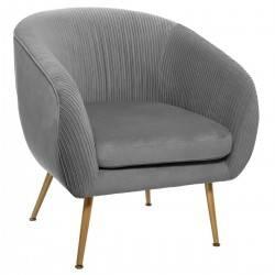 Fotel wypoczynkowy Solaro Velvet Grey