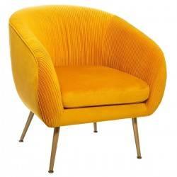 Fotel wypoczynkowy Solaro Velvet Mustard