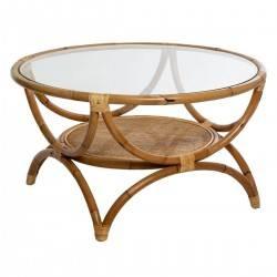 Rattanowy stolik kawowy Farah 90 cm