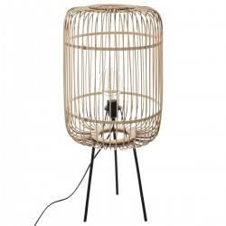 Bambusowa lampa podłogowa Eads 74 cm