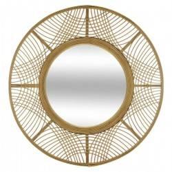 Bambusowe lustro ścienne Ina 70 cm