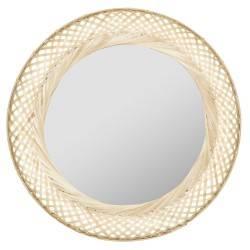 Bambusowe lustro ścienne Liby 70 cm
