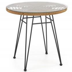 Stół okrągły Falcon rattanowy 79 cm