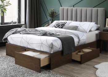 Łóżko Gorashi z szufladami 160x200 cm