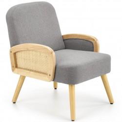Fotel wypoczynkowy Grecos popielaty