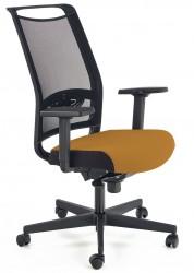 Fotel gabinetowy Gulietta musztardowy