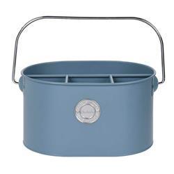 Pojemnik metalowy na sztućce niebieski