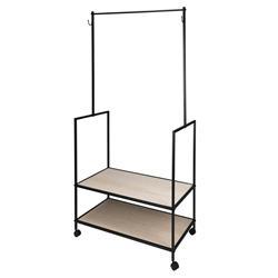 Mobilna garderoba z półkami i wieszakami
