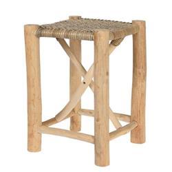 Taboret z drewna tekowego