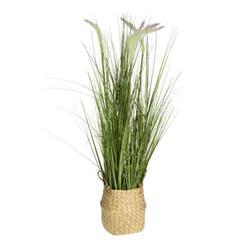 Sztuczna trawa kwitnąca w donicy wzór 1