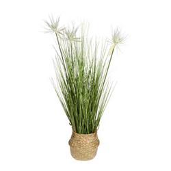 Sztuczna trawa kwitnąca w donicy wzór 3