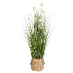 Sztuczna trawa kwitnąca w donicy wzór 4