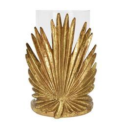 Świecznik ze złotym liściem wzór 2