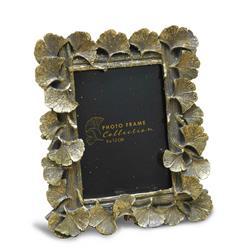 Ramka na zdjęcia z liśćmi złota 17x15 cm