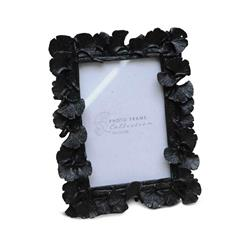 Ramka na zdjęcia z liśćmi czarna 17x15cm