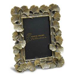 Ramka na zdjęcia z liśćmi złota 20x16 cm
