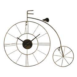 Zegar ścienny rower czarno-złoty