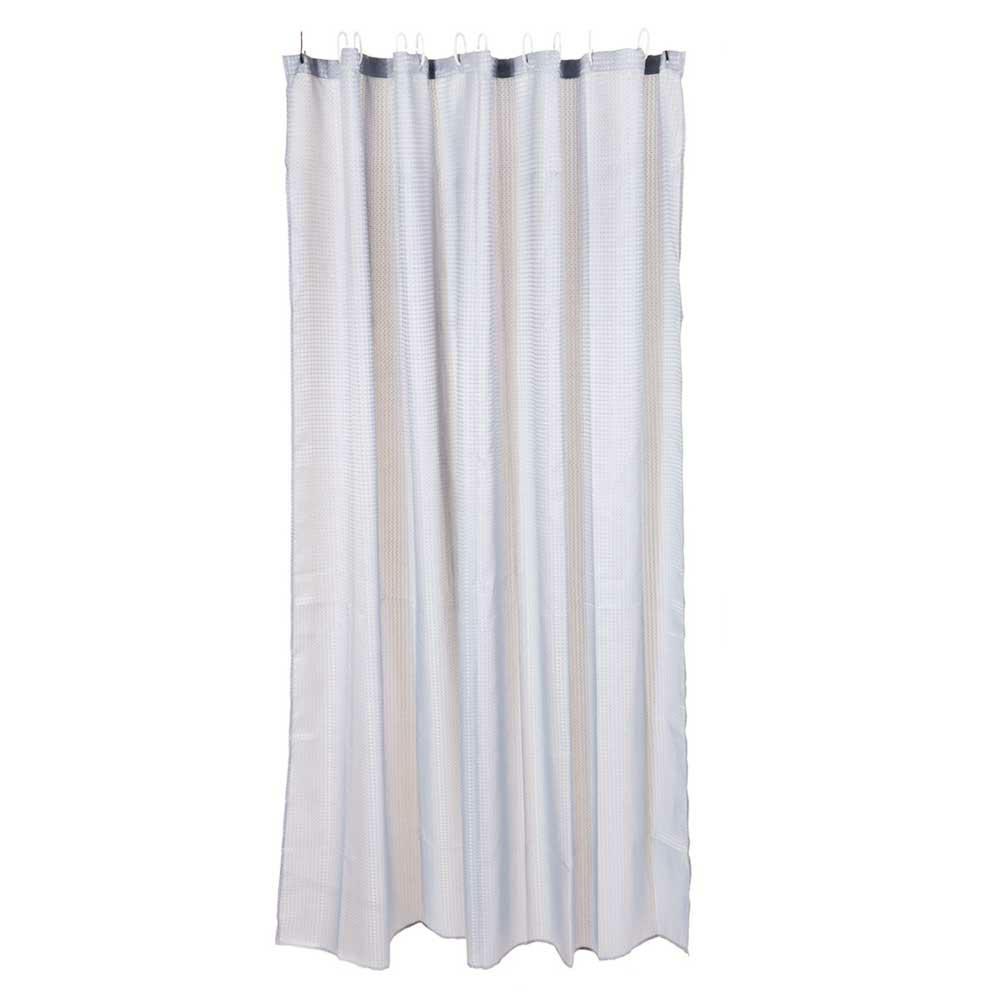 Zasłona prysznicowa biała 180 cm