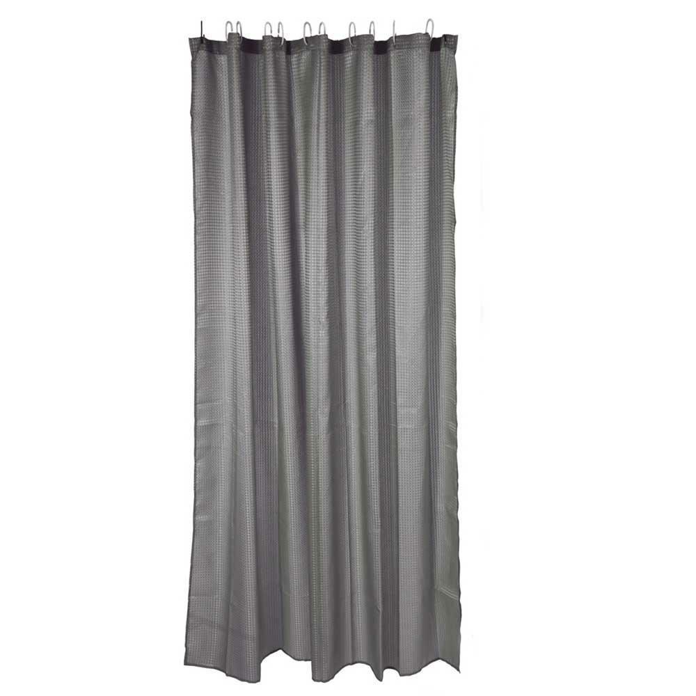 Zasłona prysznicowa szara 180 cm