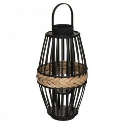 Lampion Cuba Black bambusowy 45 cm