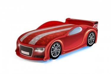 Łóżko dziecięce UNO A4 Sport Red LED