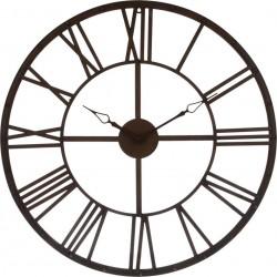 Zegar ścienny vintage brązowy 70 cm
