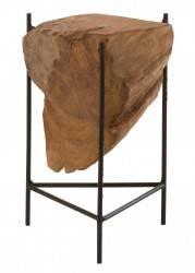 Świecznik Root drewno tekowe 35 cm