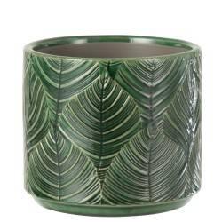 Doniczka ceramiczna Tropical Green 11 cm