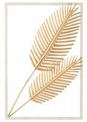 Ozdoba ścienna Leaves Gold 30x45 cm