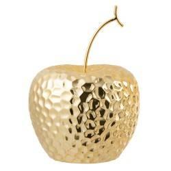 Figurka ceramiczna Apple Gold 17 cm