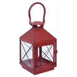 Lampion metalowy czerwony 25 cm