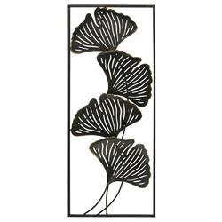 Ozdoba ścienna liście Ginko 90x36 cm
