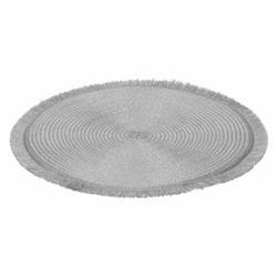 Podkładka na stół okrągła srebrna 35 cm