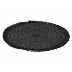 Podkładka na stół okrągła czarna 35 cm