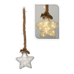Szklana gwiazda wisząca na sznurze 113cm