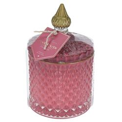 Świeca zapachowa w słoju różowa