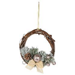 Wianek świąteczny rattanowy mały 15 cm