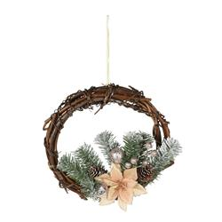 Wianek świąteczny rattanowy duży 30 cm