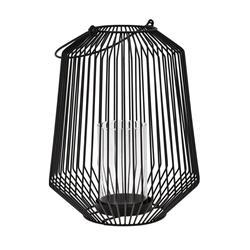 Lampion druciany czarny z rączką 30 cm