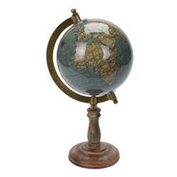 Dekoracyjny globus świata turkus 28 cm