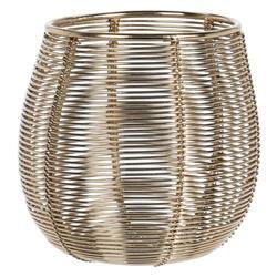 Metalowy druciany lampion złoty 10 cm
