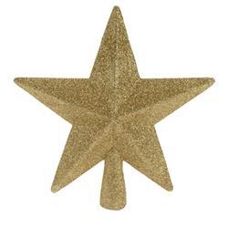 Szpic na choinkę złota gwiazda 19 cm