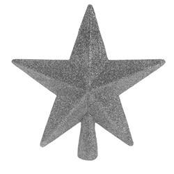 Szpic na choinkę srebrna gwiazda 19 cm