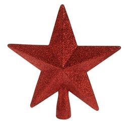 Szpic na choinkę czerwona gwiazda 19 cm