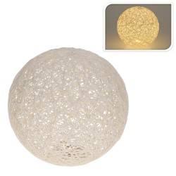 Lampka ozdobna Kula Led biała 20 cm