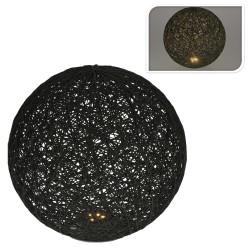Lampka ozdobna Kula Led czarna 20 cm
