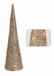 Choinka stożek złota 30 led 60 cm