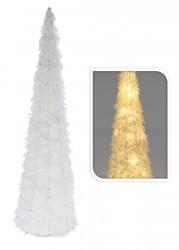 Choinka led stożek biała 60 cm