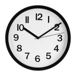 Zegar ścienny Silas Black 22 cm