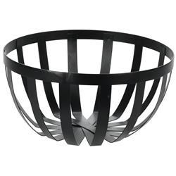 Koszyk metalowy czarny okrągły 25 cm